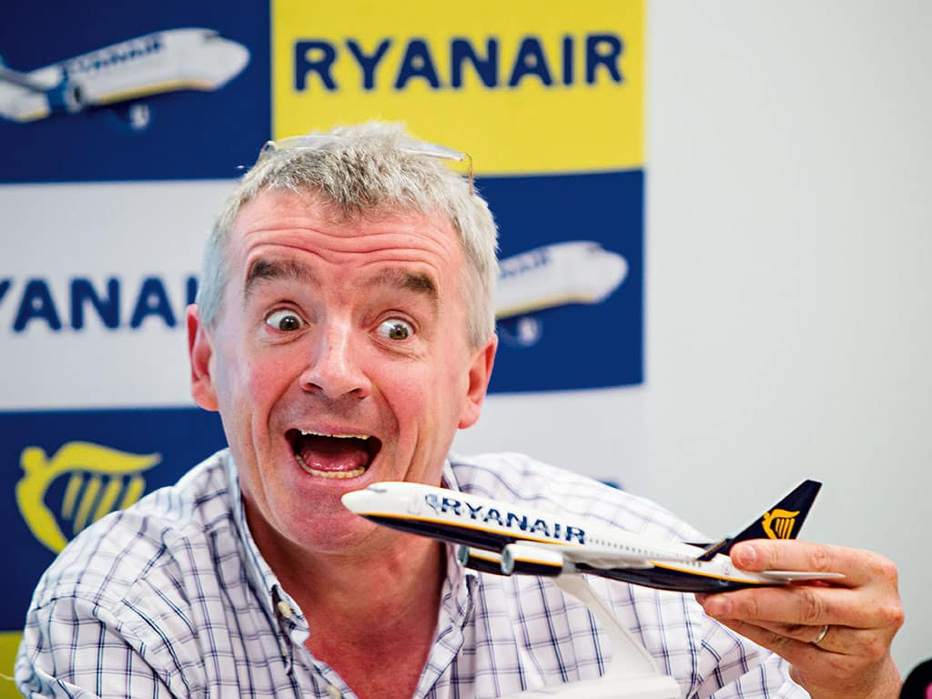 Ryanair boss O'Leary: 'Anyone know how to fly a plane?'